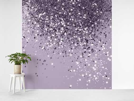 Silver Gray Lady Glitter 1 Wallpaper Wall Murals Bedroom Glitter Paint For Walls Glitter Wallpaper Bedroom