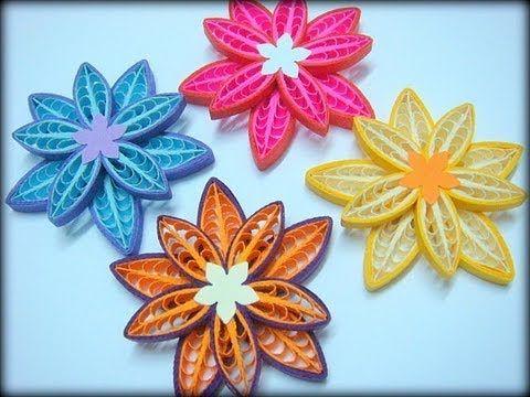 The 34 best images about quilling fimpjes en uitleg on pinterest double star loop flower tutorial youtube quilling combquilling flowersquilling artpaper mightylinksfo