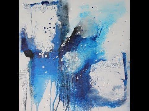 Ein Einfaches Acrylbild In Weiss Und Blau The Making Of An