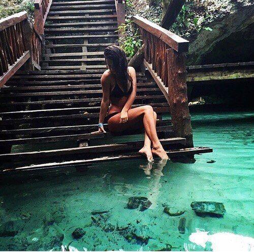 Sit in the tide pool