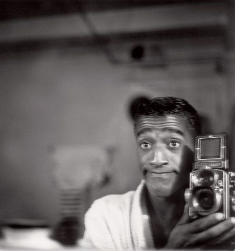 Sammy Davis Jr with Rolleiflex
