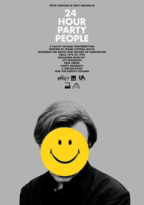 "24 hour party people - insights of the ""Madchester"" music revolution: Movie Posters, Film4 Backed, Film Movie, 24 Hour Party People, Cinematicmovieposters 13Faqs, Film Posters, 2002 Film"