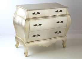 I've wanted a silver leaf or mirrored side table for our bedroom; this is a much more cost effective option