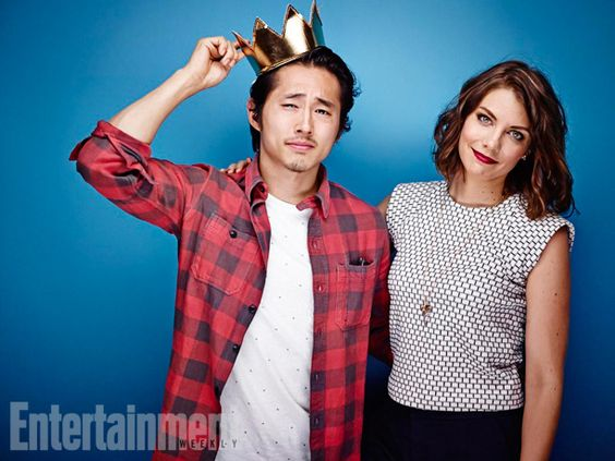 Steven Yeun and Lauren Cohan, The Walking Dead. See more stunning star portraits from our photo studio at San Diego Comic-Con 2014 here: http://www.ew.com/ew/gallery/0,,20399642_20837151,00.html