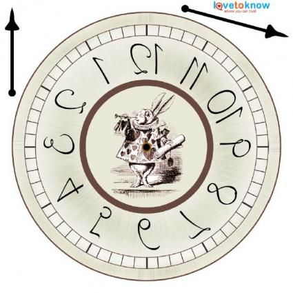printable clock/Alice in wonderland:
