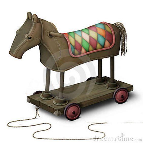 Download Cavalo De Ferro Do Brinquedo Fotos de Stock - Imagem: 16505063