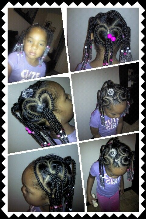 Awe Inspiring Great Hairstyle For Little Girls Heart Braids Pinterest Short Hairstyles Gunalazisus
