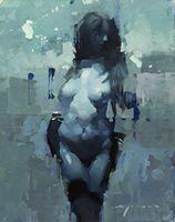 Jeremy Mann - Figure In Blue #1