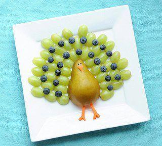 Arte em frutas =)