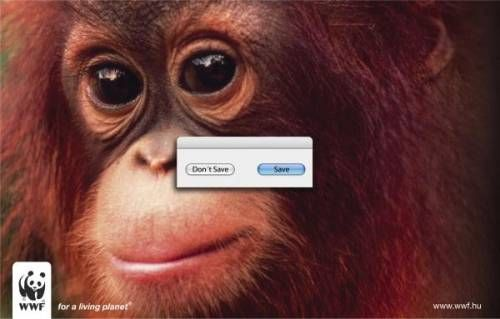 """WWF: Orangutan  """"Save? Don't Save? For a living planet.""""  by Unknown  via AdPunch"""