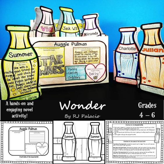 Wonder by RJ Palacio End of the Book Activity
