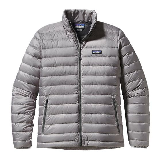 Patagonia Men\'s Down Sweater Jacket - Feather Grey w/Forge Grey FTFG