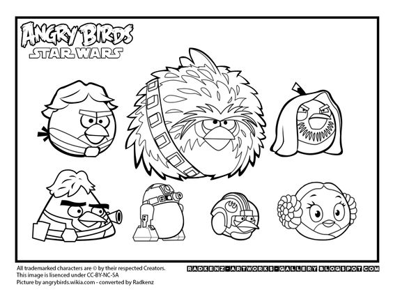 Angry Birds Star Wars Coloring Games Online | Coloring Pages