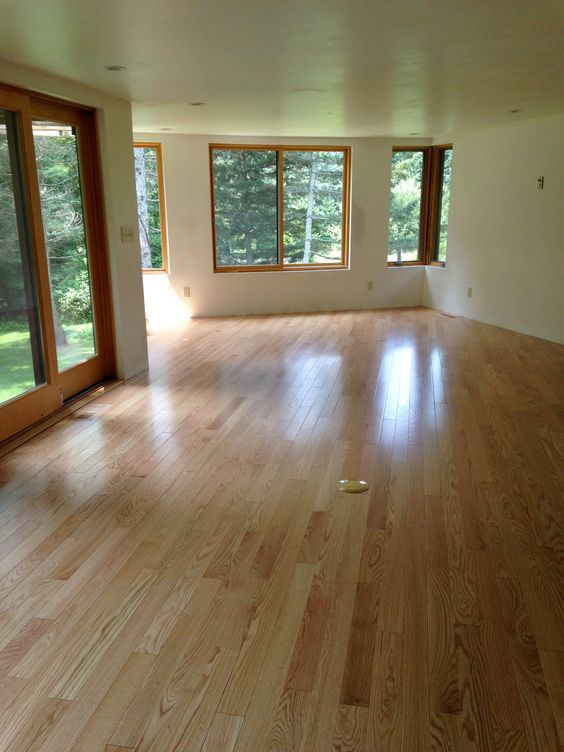 A classic style like red oak is always a popular pick for Hardwood floors 60 minutes