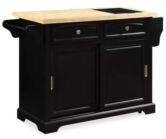 Black 2 Drawer Sliding Door Kitchen Cart Big Lots Kitchen Cart With Drawers Kitchen Cart Kitchen Tops