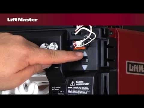 How To Program Travel On Liftmaster Security 2 0 Garage Door