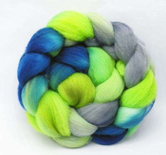 80's Jam - Hand Dyed Roving - Spinning Fiber - BFL - Falkland - Shetland - Targhee- Cheviot - Dyed to Order