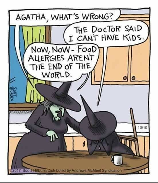 Witches Kids Food Allergies Hfa Halloween Memes Halloween Funny Funny Comics