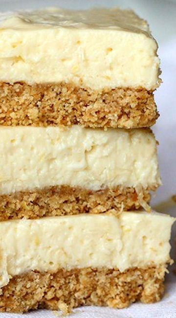 Lightened - Up No Bake Lemon Icebox Bars