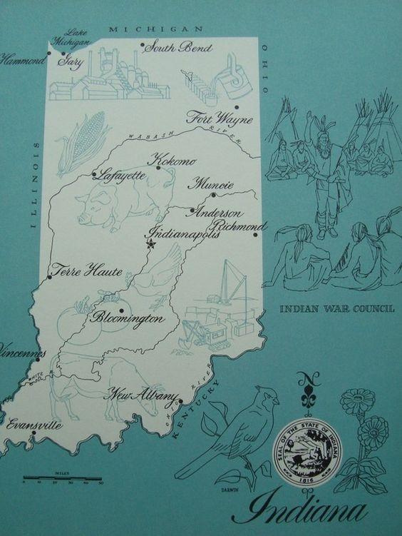 City map Lafayette Indiana