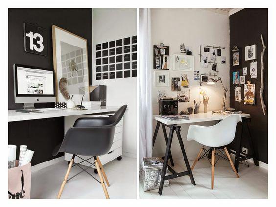 A ausência das cores quentes não implica necessariamente em um ambiente monótono e sem vida, que não seja um local inspirador e gostoso para trabalhar. Confira em nosso #Blogdecor algumas inspirações de Home Office em Black & White!