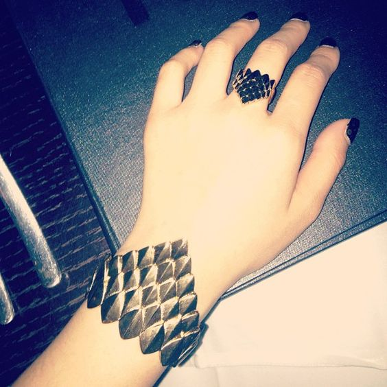 Eden's Knight Ring and Armor of Eden Cuff. -Ever Eden by Michelle Phan. (♥)