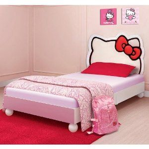 Hello Kitty Tiwn Bed was perfect designed for your little princess in mind. This adorable bed features a fully upholstered with hardwood construction.