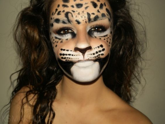 amazing theatrical leopard makeup halloween pinterest. Black Bedroom Furniture Sets. Home Design Ideas