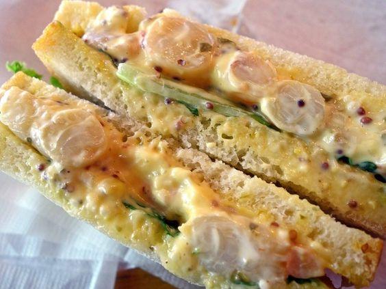 世田谷 パリの空の下   天然エビのサンドイッチ