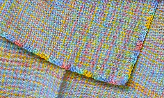 Baby Swaddling Blanket, Handwoven Cotton, Sherbet Colors
