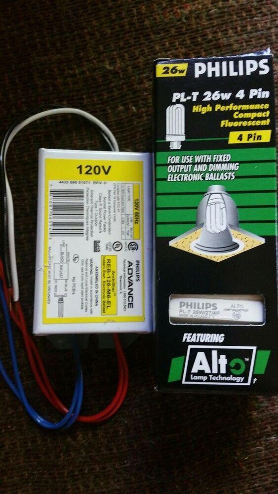 Sponsored Ebay Philips Advance Ballast Reb 126 M6 El And Pl T 26w 4 Pin 2700k Bulb Lot Of 10 Ballast Philips 2700k