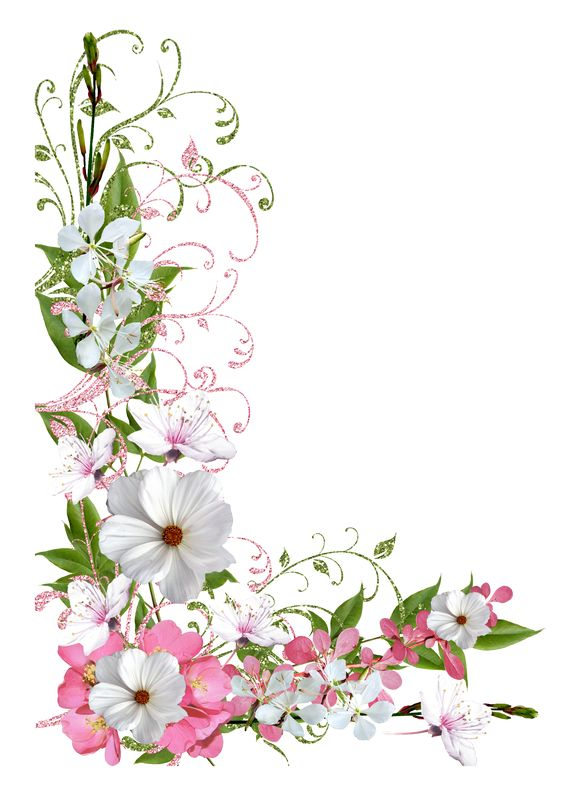 Pink and Green Spring Decor PNG Picture Clipart: