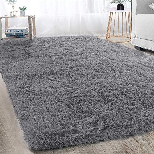 Super Soft Large Shaggy Fur Area Rug Grey For Bedroom Dorm Nursery Kids Boys Room Modern Indoor Home Decorative Shaggy Rug Plush Area Rugs Rugs In Living Room Super soft area rug