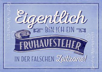 Frühaufsteher - Postkarten - Grafik Werkstatt Bielefeld