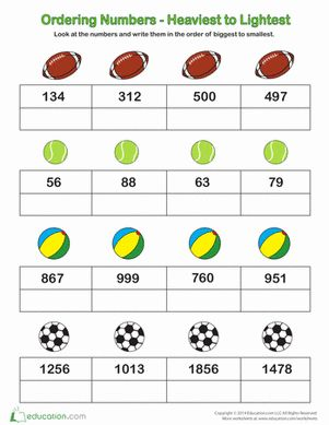 Ordering Numbers | Number worksheets, Worksheets and Places