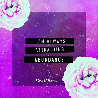 #affirmation : I am always attracting abundance. ✨ Say this one over and over again until you rewire your reality to see the proof that imprinting your subconscious mind actually creates miracles. For more manifesting inspiration visit my blog: http://SarahProut.com <3: