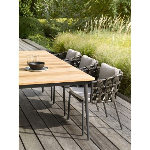 Vincent Sheppard Leo Dining Table Aluminium And Teak Outdoor Dining Chairs Teak Garden Furniture Outdoor Furniture Sets