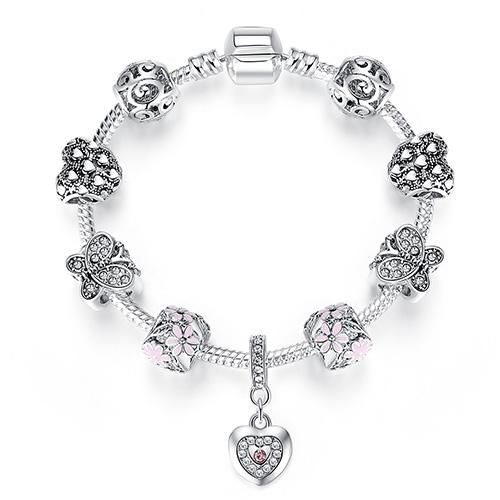 bracelet argent charmes