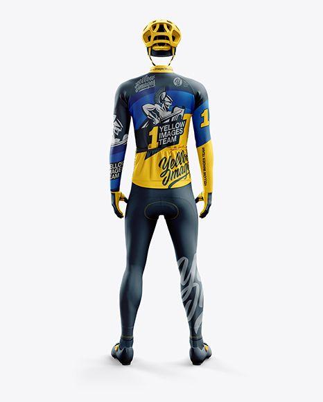 Download Download Mena S Full Cycling Thermal Kit Psd Mockup Back Viewtemplate In 2020 Clothing Mockup Design Mockup Free Psd Designs