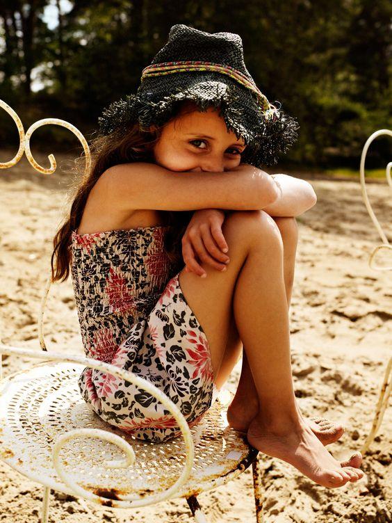 kids fashion, girls fashion, hat, floral dress