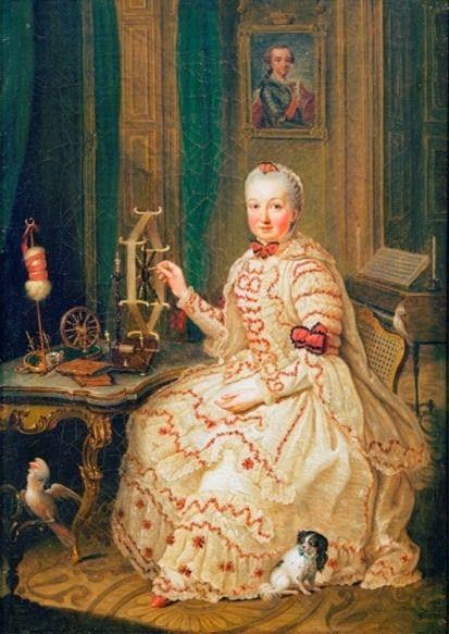 Kurfürstin Maria Elisabeth Auguste von der Pfalz by Johann Georg Ziesenis (location unknown to gogm) | Grand Ladies | gogm
