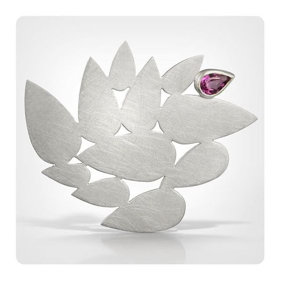 New brooch with pink topaz. Available at the studio. Beautiful pic by @coleimage. 5706 Magazine St. Tues-Sat, 11-5