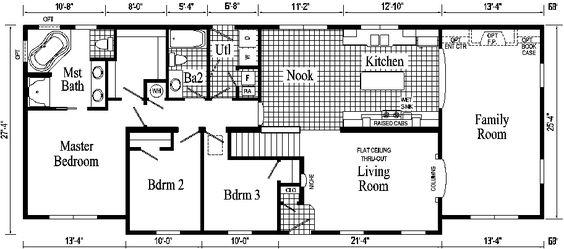 Open Floor Small Home Plans Oakland Ranch Style Modular