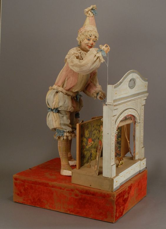 Clown et Theatre - automaton of the Vichy firm, Paris, circa 1900 (Carmel Doll shop)