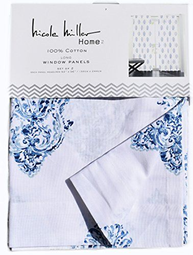 Nicole Miller Perrin Damask Medallions Pair of Curtains S... http ...