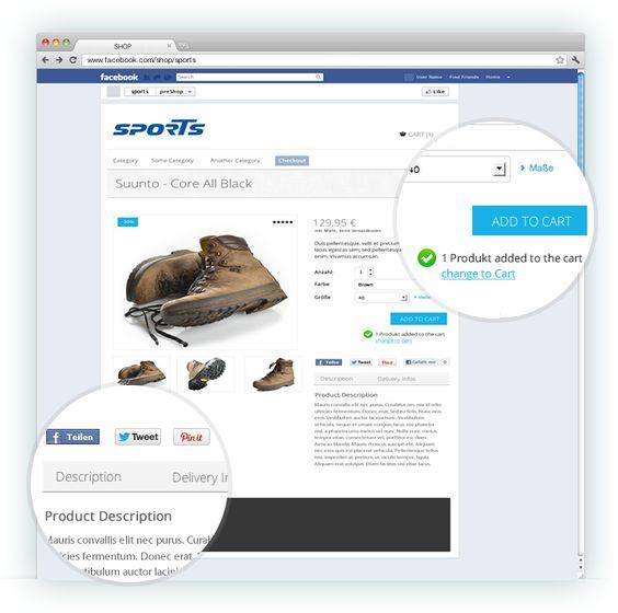 Nach dem Bestellvorgang kommt die Meldung, dass der Artikel in den Warenkorb gelegt wurde    www.zadego.de/commerce