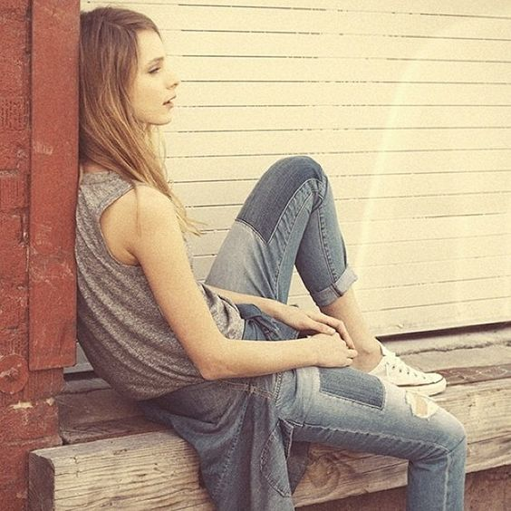 Perfect Laid Back Cool Jeans By @currentelliott #thepatchworkflingjean #kaseywithrepair By Shopbop