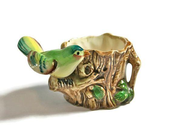 Vintage bird toothpick holder helping etsians promote pinterest vintage birds it is and smile - Bird toothpick holder ...