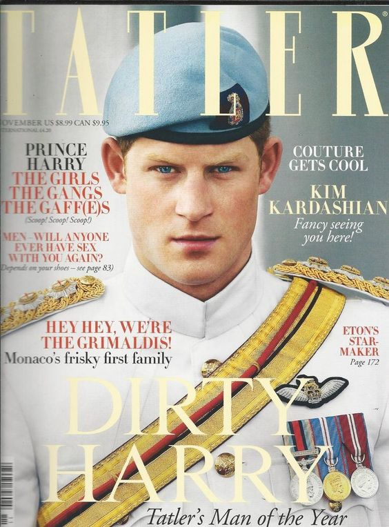 Tatler magazine Prince Harry Kim Kardashian Monaco Grimaldi royal family Couture