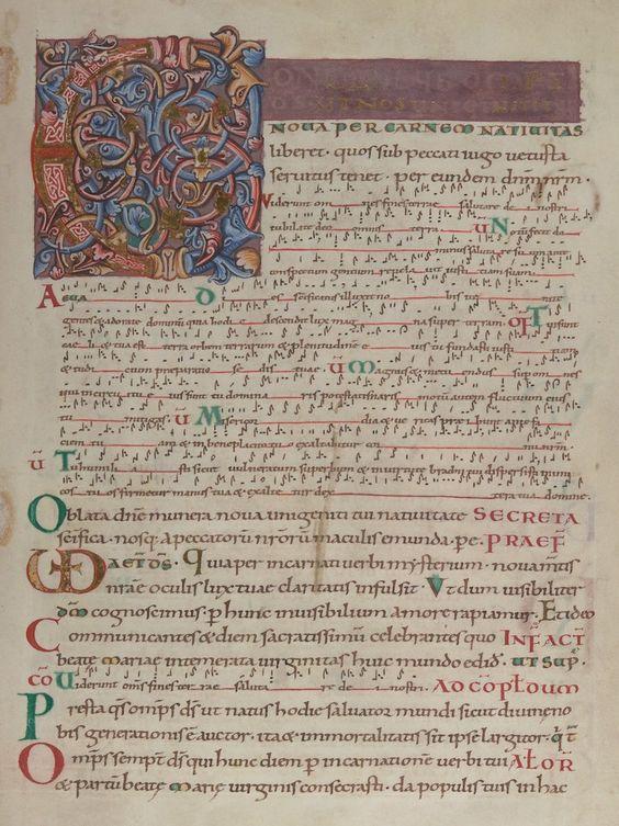 """St. Denis Missal"", mediados del siglo XI. British Library."